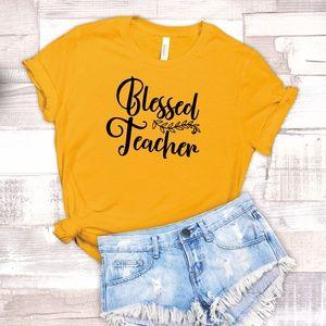 B2G1 Blessed Teacher Unisex T-shirt Plus Size